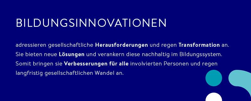 Definition von Bildungsinnovation